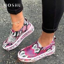 Women Vulcanized Shoes 2020 New Snake Pr