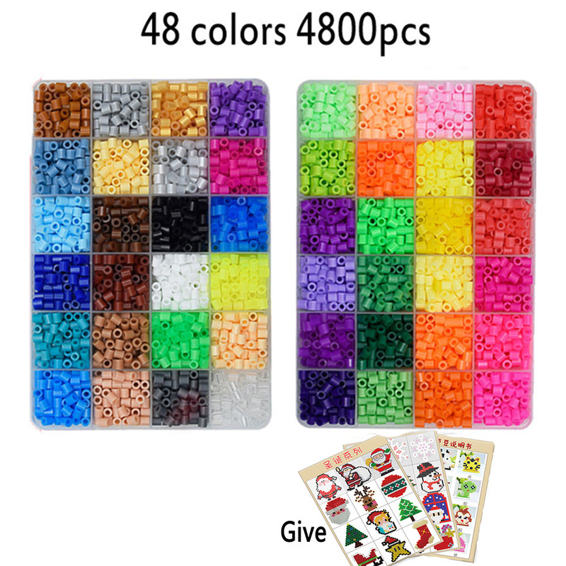 5mm beads 24/48/36box packing Hama beads Education Toys Iron beads handmaking perler Fuse beads diy toy Free shipping 12