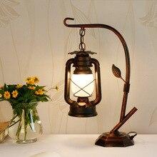 Suministro especial de lámpara de mesa retro americana, lámpara de caballo antiguo, lámpara de aceite, lámpara de mesa de dormitorio, lámpara de queroseno, lámpara de mesa de estudio