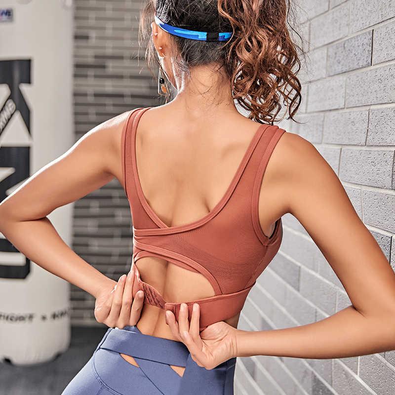 ספורט חזיית השפעה גבוהה עבור כושר yoga ריצה רוכסן לדחוף את נשים כושר בתוספת גודל עבור בני נוער אימון vest למעלה