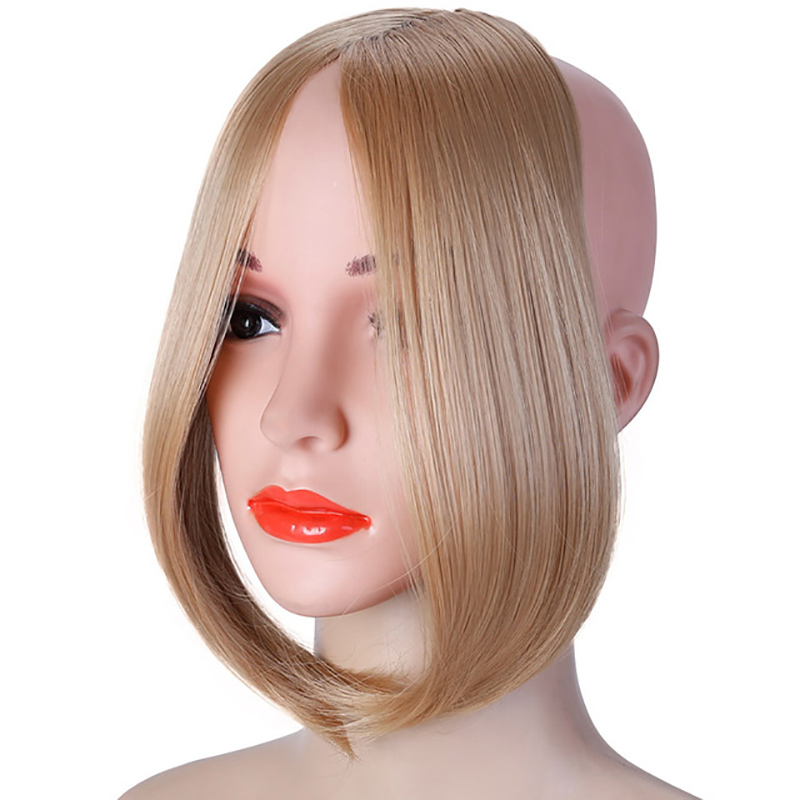 HOUYAN, модные длинные волосы на заколках спереди, боковая бахрома, накладные волосы, настоящие натуральные синтетические волосы с челкой - Цвет: 103