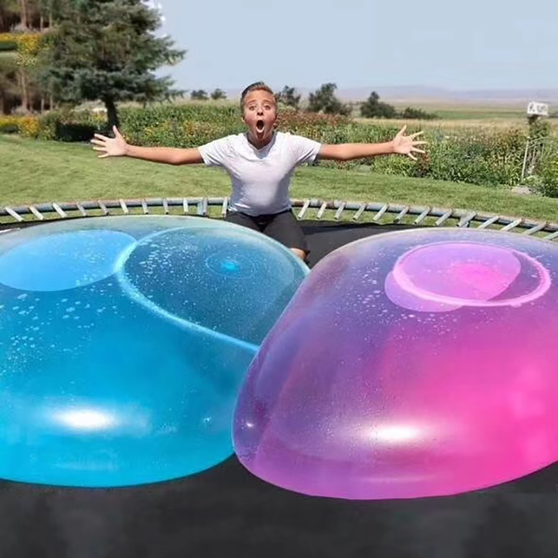Oversized Inflatable Water Balloon Ball 1.2m Super-large TPR Bubble Ball With Air Pump Outdoor Water Park Parent-child Toys