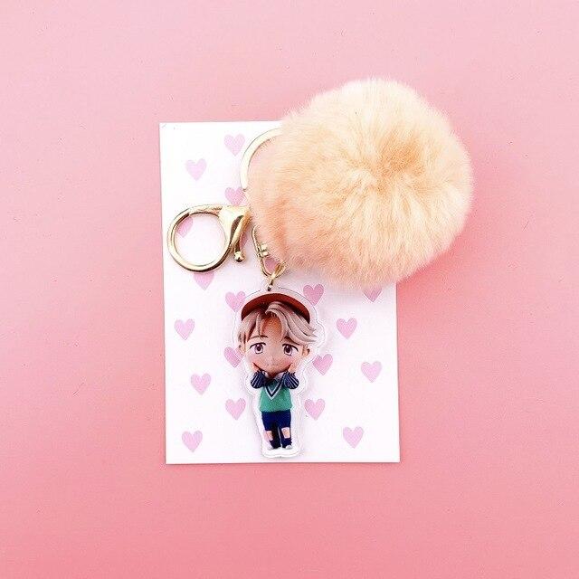 Kawaii Plush Ball keychain  1