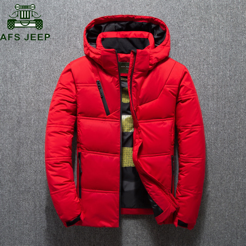 New Winter Jacket Men High Quality Fashion Casual Down Coat Hood Thick Warm White Duck Down Jacket Male Winter Parkas Outerwear