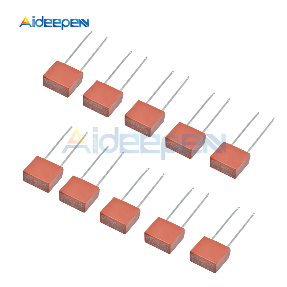 10pcs 1A 2A 3.15A 4A 5A 6.3A 250V 392 Square Plastic Fuse T1A T2A T3.15A LCD TV Power Board Commonly Used Fuses Slow Blow Fuse