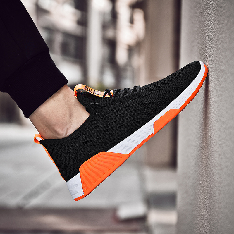 2019 MEN'S SHOES Running Spring And Autumn MEN'S SHOES Breathable Casual Sports Mesh Shoe Men's Zhen Fei Woven Autumn Korean-sty