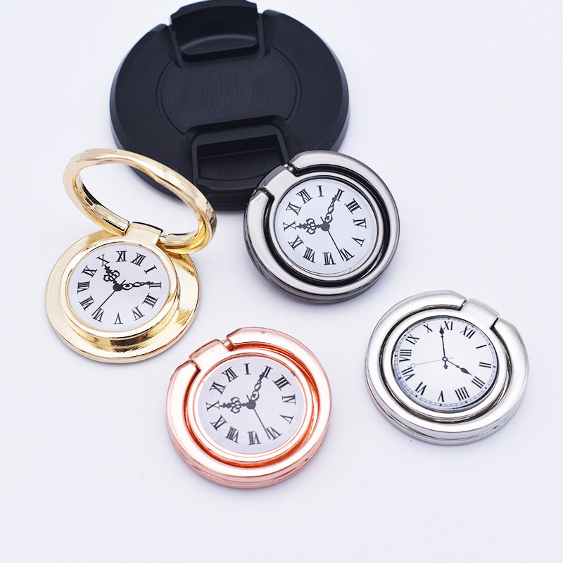 UVR 360 Degree Metal Luxury Pocket Watch Finger Ring Smartphone Stand Holder Mobile Phone Holder Stand For IPhone All Phone