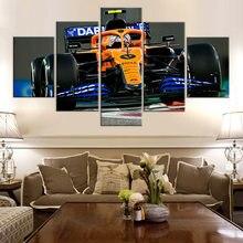 5 stück McLaren mcl35 Lando Norris f1 Auto Leinwand Rahmen Kunst Wohnzimmer Home Decor Kunstwerk Wand Bild Drucken Malerei poster