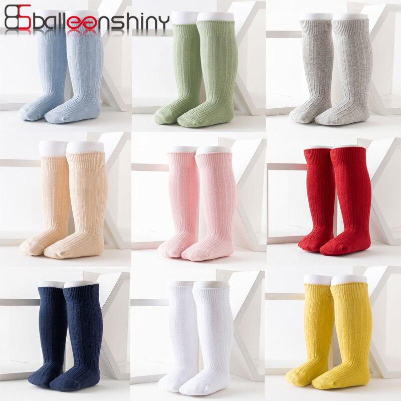 Balleenshiny для новорожденных, малышей, девочек хлопковые носки для мальчиков ручной работы для детей Гольфы однотонные испанский Стиль новорож...