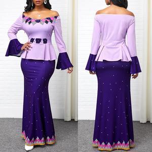 Для женщин элегантное платье с открытыми плечами с длинным Расклешенным рукавом фасона «рыбий хвост» низ облегающее Макси платье размера плюс 5Xl Сексуальные вечерние платья Robe Femme
