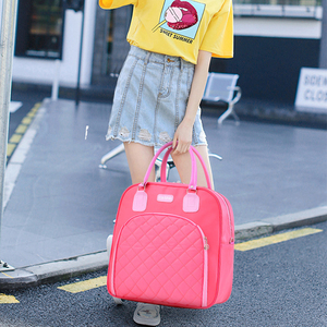 Image 4 - Large Capacity Women Travel Bag Travel duffle Bag Solid Color Fashion Multifunctional Hand Luggage Bags Waterproof Weekend Pack