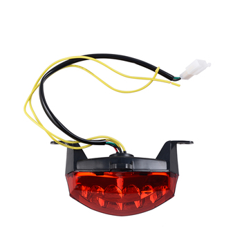 LED Red Motorcycle Tail Light with yellow Turn Signals Light For Ktm DUKE 125 200 250 390 image