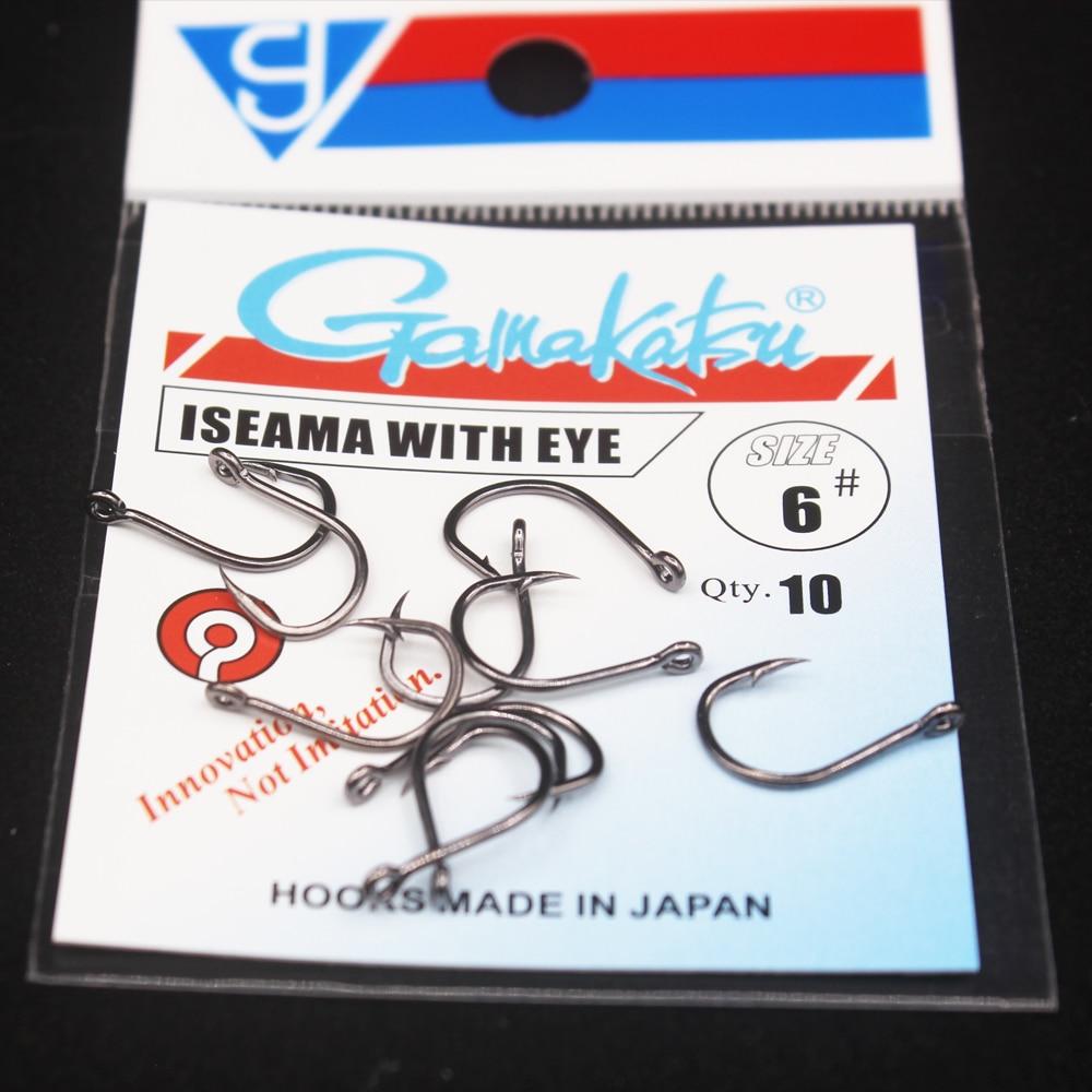10pcs/lot  Iseama Circle Carp Eyed Fishing Hook Size 1/0-14# Ring Eye Japan Fishhooks Single Jig Hook Pech Gamakatsu