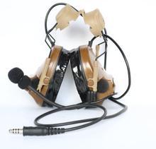 TAC SKY comtac iiiヘルメット高速トラックブラケットバージョン片面シリコーン耳あてバージョンノイズリダクションピックアップイヤホン cb
