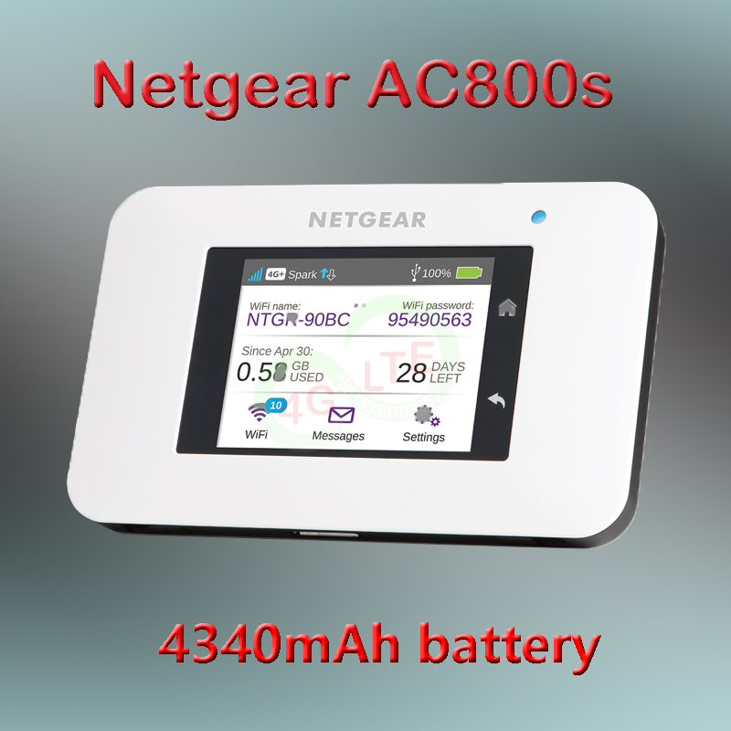 Unlocked AirCard 800S Mobile Hotspot 450Mbps Optus 4G Wi-Fi Modem Ac800s band 28 700mhz 4340mah battery portable wifi 4g mifi image