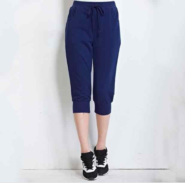 2019 Losse Zomer Kalf Lengte Vrouwelijke Harembroek Plus Size Zwarte Broek voor Vrouwen Sportwear Joggers joggingbroeken Dames RQ86