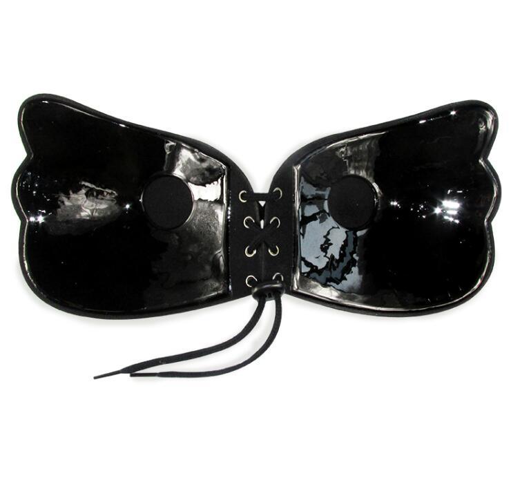 Женский самоклеющийся бюстгальтер без бретелек, черный однотонный бюстгальтер, гелевый силиконовый бюстгальтер с эффектом пуш-ап, женское нижнее белье, невидимый бюстгальтер - Цвет: NT black
