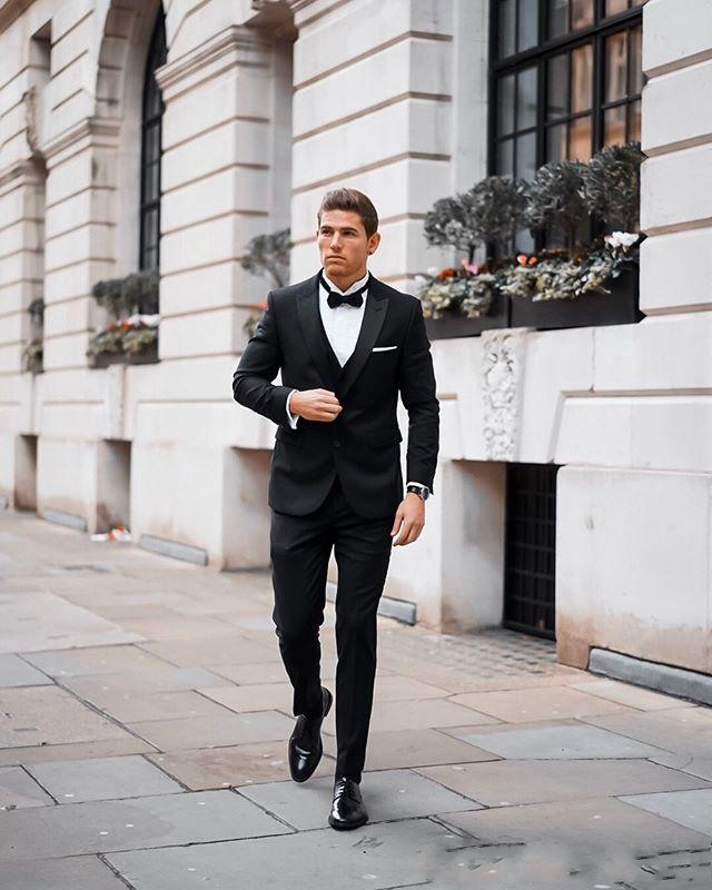 handsome-black-wedding-tuxedos-peaked-lapel-slim-fit-two-button-groom-wear-formal-party-prom-men-suit-blazer(jacket+pants)