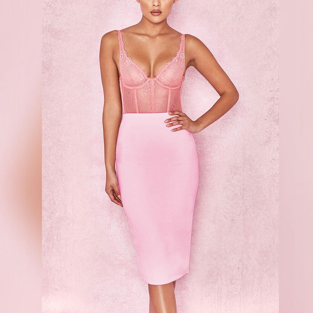 Up To 90%Off Big Sale!!!Ocstrade 10th Anniversay Shopping Festival!2020 Summer High Quality Women Sexy Pink Bandage Skirt