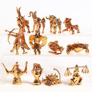 Image 4 - Saint Seiya The Gold Zodiac Sagittarius Aries Taurus Libra Scorpio Mini PVC Figures Collectible Toys 12pcs/set