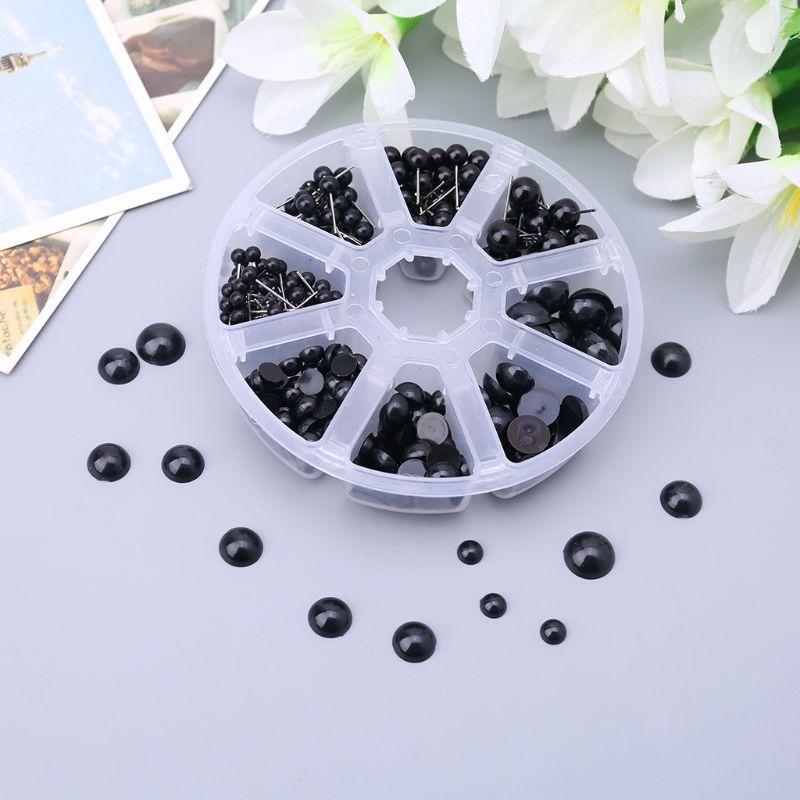 410 Pcs Black Plastic Crafts Safety Eyes 8 Grid 4-12mm Needle Felting Kit for Bear Soft Dolls Craft Toy Animal Doll DIY