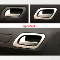 ABS Chrome For Citroen C4 2016 Accessories Car inner door Bowl decoration strip Cover Trim car styling