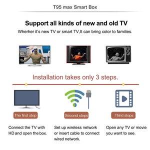 Image 5 - T95max Android TV Box 9.0 4GB 64GB di Smart TV Allwinner H6 Quad Core USD3.0 6K HDR 2.4GHz Wifi Google Player Youtube T95 max