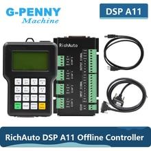 Darmowa wysyłka RichAuto DSP A11 CNC kontroler oryginalne 3 osi sterownik ruchu A11E angielska wersja dla CNC ploter