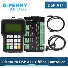 무료 배송 RichAuto DSP A11 CNC 컨트롤러 원래 3 축 모션 컨트롤러 A11E 영어 버전 CNC 라우터 기계