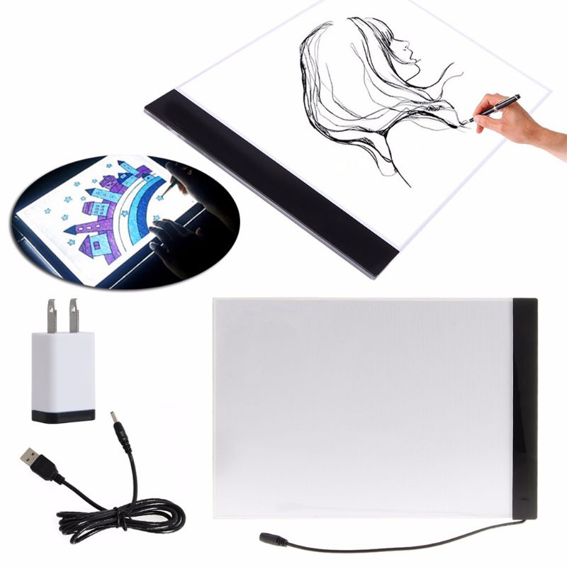 1 Set A4 LED Artist Thin Art Stencil Board Light Box Tracing Drawing Board NEW D08A