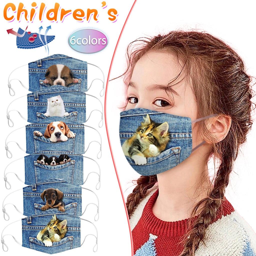 5 шт., детская ковбойская Солнцезащитная маска для лица, дышащая велосипедная маска, хлопковая мягкая Пылезащитная маска для мальчиков, маски для маска