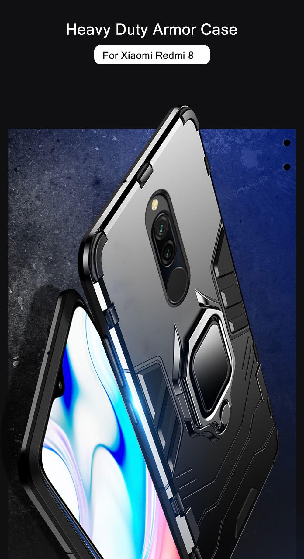 H303d63ad49464cfaae11ea693a6a52865 Armor Case for Redmi 8 8A Case Magnetic Car Phone Holder TPU+PC Bumper Cover on for Xiaomi Redmi 8 8A 8 A Global Version Case