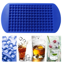 High Quality Ice Cube Mold 160 Grids Bar Soft elastic Ice Cube Maker Food Grade DIY Creative Square Shape Kitchen Accessories