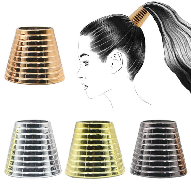 Punk Anti-Slip Pattern Cone Horn Horsetail Buckle Claw For Girls Hair Clips Hair Rope Girls Magic Bun Ponytail Wild Accessory