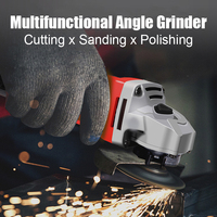 Moedor elétrico polimento de corte ferramentas elétricas brushless angle grinder moagem máquina 100mm 220 v roda de lixamento multi-função