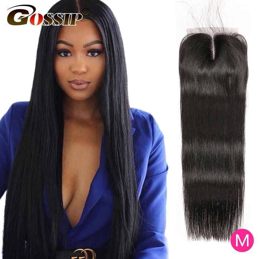 Straight 4x4 Lace Closure 100% Human Hair Closure With Baby Hair Brazilian Hair Weaving Gossip Remy Pre Plucked Closure
