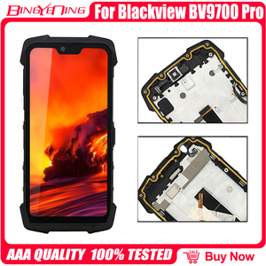 Image 2 - 100% oryginalny 5.84 cal dla Blackview BV9700 Pro LCD i ekran dotykowy Digitizer z wyświetlanie ramki moduł naprawa wymiana części