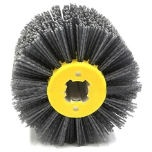 P120 1 шт. нейлоновая абразивная проволока Dupont барабанная полировка колеса электрическая щетка для деревообработки Металлообработка