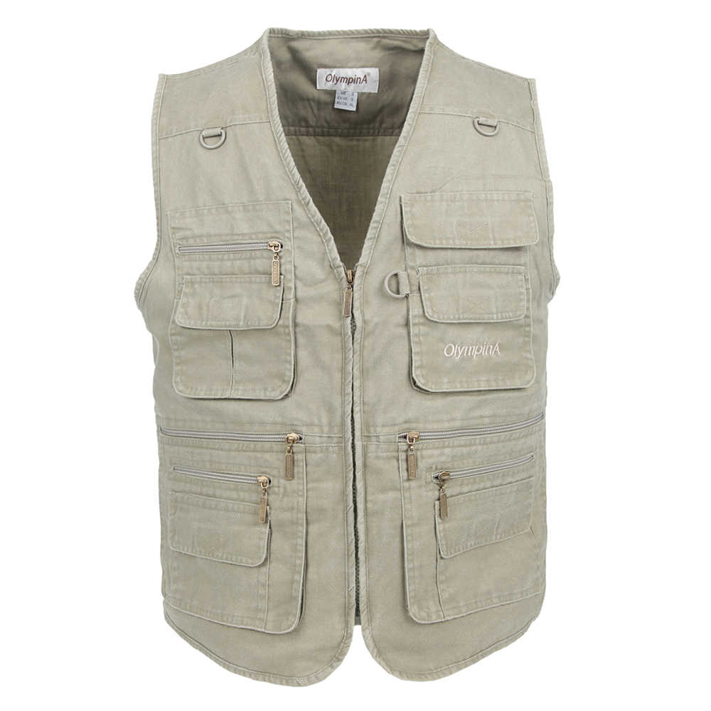 Big Size Vissen Vest Man Met Veel Zakken Mannen Mouwloze Jas Blauw Vest Werk Vesten Outdoors Vest Plus Grote Maat 10XL