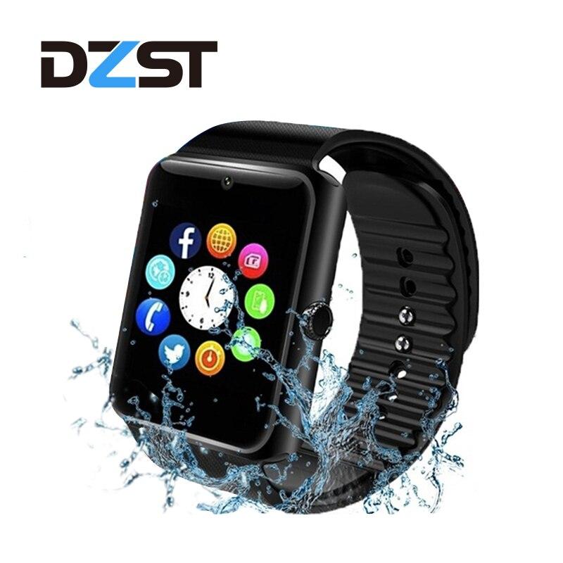 2019 montre intelligente GT08 Plus Bluetooth paire horloge en métal avec fente pour carte Sim Message poussoir pour Android IOS téléphone montre intelligente PK S8