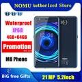 Оригинальный ному M8 телефон IP68 Водонепроницаемый 21MP android 7,0 MTK6750T Octa Core 5,2 дюйма 4 Гб RAM 64 Гб Встроенная память NFC 4 аппарат не привязан к операто...
