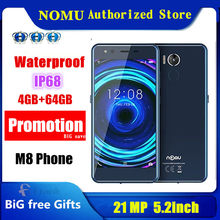 Original Nomu M8 Telefon IP68 Wasserdichte 21MP android 7.0 MTK6750T OCTA Core 5,2 inch 4gbram 64gb ROM NFC 4G LTE Handy
