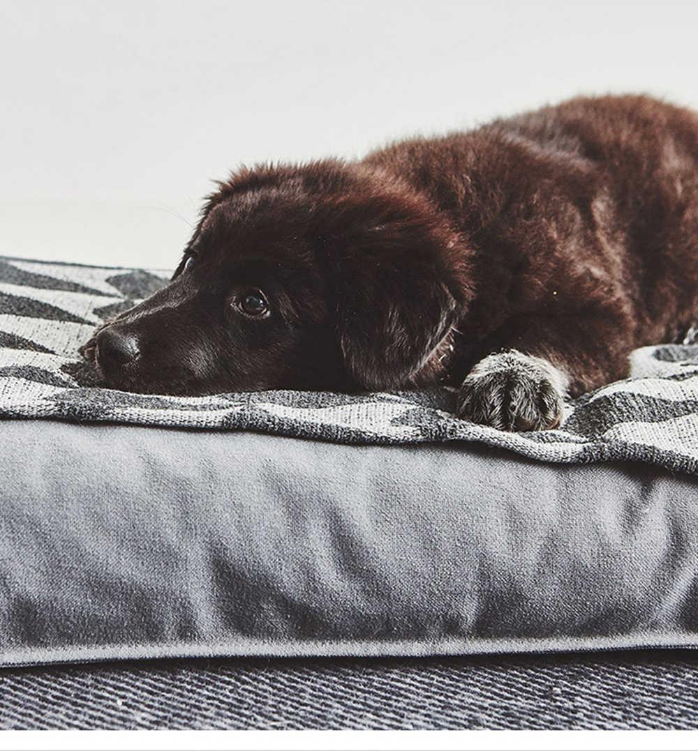 괜 찮 아 요 코 튼 린 넨 슈퍼 부드러운 개 침대 애완 동물 소파 개를위한 잠자는 고양이 고양이 집 겨울 따뜻한 이동식 쿠션 바구니