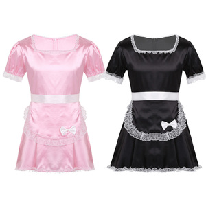 Image 2 - iiniim Sexy Sissy Maid Fantasia Uniforms Men Maids Servers Cosplay Dress with Apron Hot Party Dress Gay Sexy Lingerie Nightwear