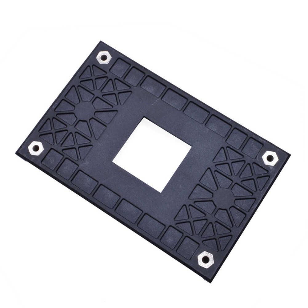 1Pc Plastik CPU Fan COOLER Kembali Papan Radiator Papan Utama Pemasangan Braket Rak dengan 4 Sekrup untuk AM4 B350 X370