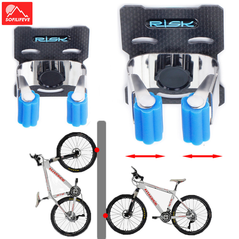 Wall Mounted Bike Repair Clamp Stand For Maintenance and Storage Hanger Blue New