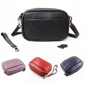 Image 4 - مصمم امرأة حقيبة يد جلدية صغيرة فاخرة حقيبة كتف عبر الجسم موضة حقيبة ساع المرأة جلد طبيعي أسود حقيبة يد