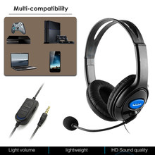 Wired Earphone Gamer Headset Xbox-One/switch Over-Ear Deep-Bass with Mic