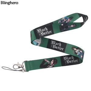 Blinghero Black Bulter Lanyards Neck Strap For Keys Phone Hang Rope ID Card Keychains