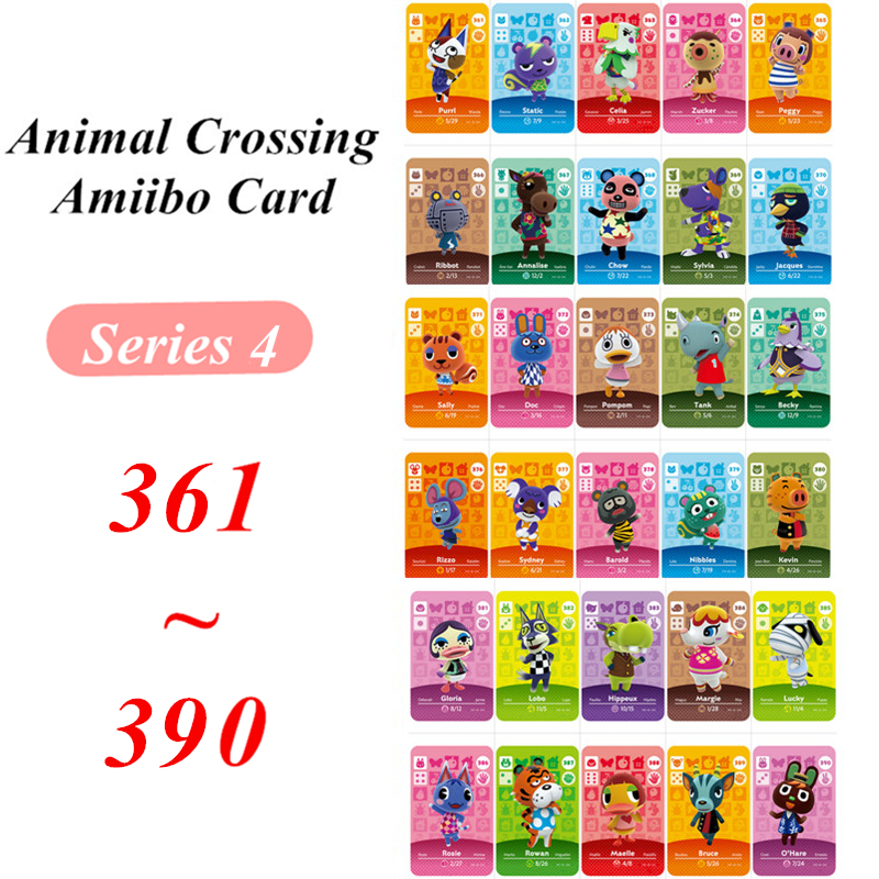 Animal Crossing Card Amiibo NFC Card 361 To 390 For Nintendo Switch NS Games Series 4  (361 To 390)